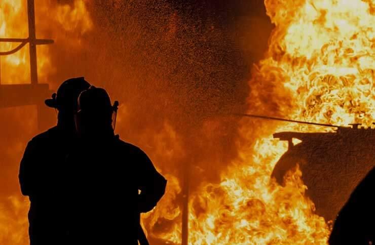 火災現場での人命捜索